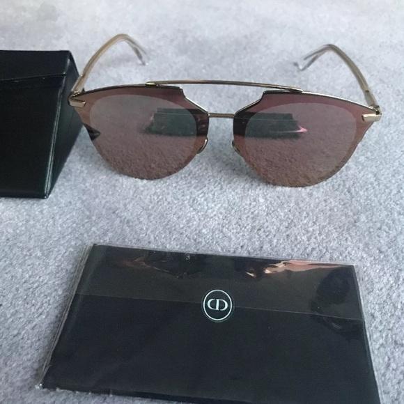 c28b53ed51b2b Dior Accessories - Dior Pink reflected Prism Effect gold sunglasses
